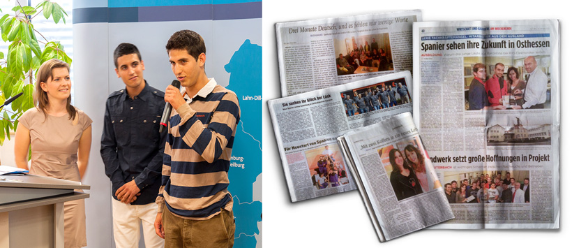 Pilotprojekt der HWK Wiesbaden und des BZL Lauterbach: Auszubildende aus Spanien