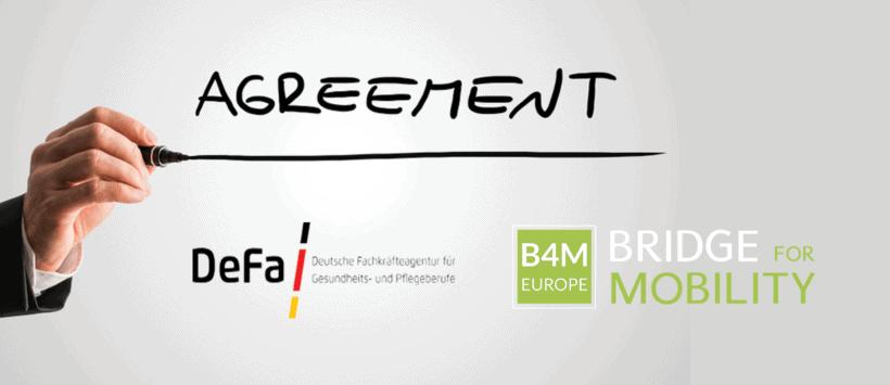 Bridge4Mobility und deutsche Fachkräfteagentur für Gesundheits- und Pflegeberufe unterzeichnen Letter of Intent