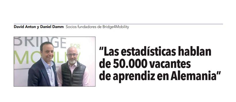 """El periódico """"El Economista"""" entrevista a los socios fundadores de Bridge4Mobility"""