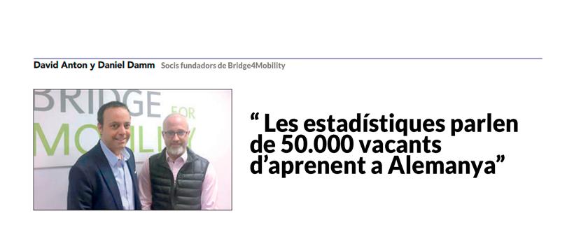 """El diari """"El Economista"""" entrevista als socis fundadors de Bridge4Mobility"""